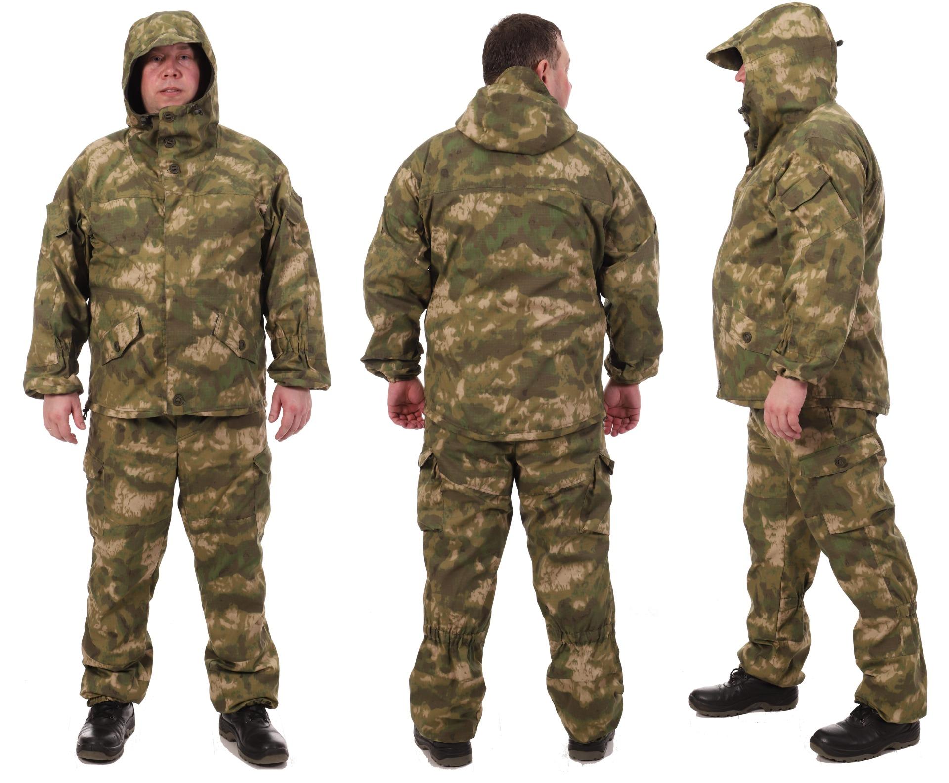 """Костюм """"Горка - A-TACS зеленый"""" с флисом"""