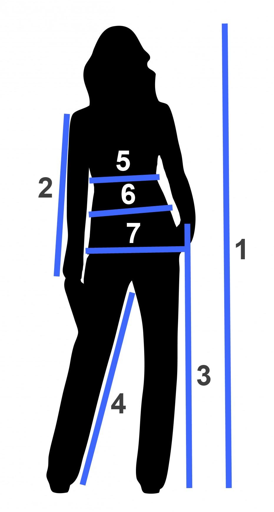 Мерки для размеров женской одежды